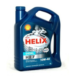 Моторное масло SHELL Helix HX7 Diesel (Plus 10W40