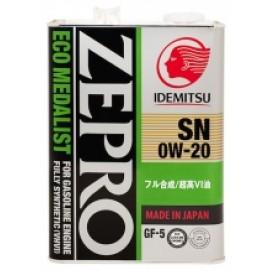 Моторное масло IDEMITSU ZEPRO ECO MEDALIST 0W20 SN/GF-5