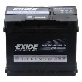 Аккумулятор Exide Start-Stop EFB 60Ah/540 прав+/обратная 242*175*190